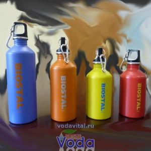 Бутылка для хранения воды из нержавеющей стали biostal 0.75 литра