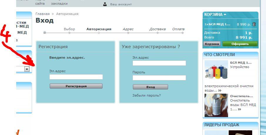 оформление заказа vodavital.ru 4